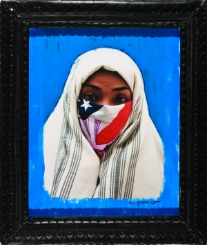 Just do it in blue (2006) and Y bandana veil in green (2006) Image